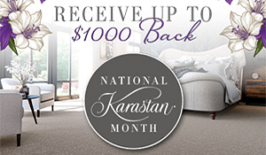 Click here to receive up to $1000 back during National Karastan Month now through 11/7/2017